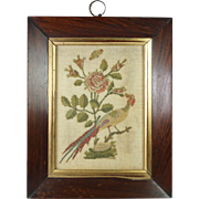 Georgian Needlework Picture Pattern Darning Surface Darning RARE 18th Century Circa 1790