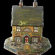 Antique Folk Art English Model House Box Quirky Circa 1900