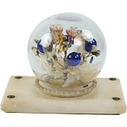 Antique French Palais Royal Paperweight Blown Glass En Tremblant Alabaster Base Circa 1870 AF