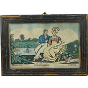Antique Georgian Miniature Hand Colored Engraving Persuasion P & P Gally Circa 1810 Jane Auste
