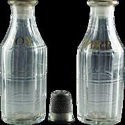 Georgian Glass Condiment Sauce Bottles Soy and Tarragon Circa 1780 Rare