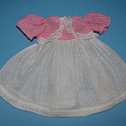 Pink Gingham & Swiss Dot Dress - For Baby Doll