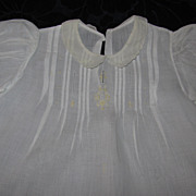 Vintage Baby/Doll Dress With Yellow Embroidered Flowers