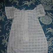 White Pattern Shoulderhead Doll Dress