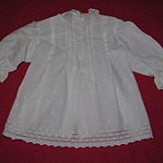 Sweet Old White Bisque Doll Dress