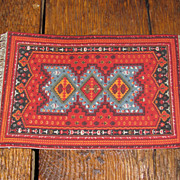 Vintage Colorful Dollhouse Rug
