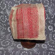 Antique Net Lace Doll Bonnet