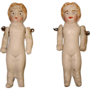 2 German Miniature Bisque Dolls