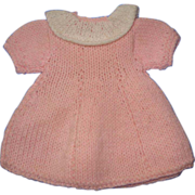 Sweet Pink Knit Doll Dress