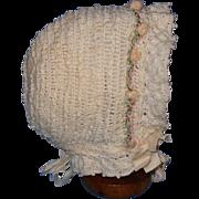 Silk Rosette Trimmed Bonnet