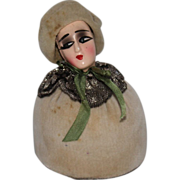 Flapper Lady Half Doll Pincushion