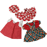 3 Vintage Doll Outfits