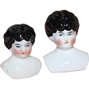 2 Small China Doll Heads