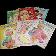 6 Vintage Paper Doll Books Uncut