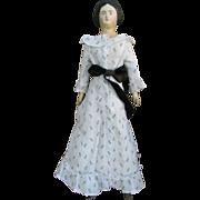 """SALE 16"""" Papier-Mache c1860 Milliner's Model Vintage Costume"""