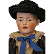"""SALE 19"""" German Bisque Character Doll Marked """"6"""" Just Like Heubach 7580 Mold Ad"""