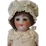 """SALE 1910 Antique 7"""" All Bisque Kestner 150 Doll With Dimples, Molded Two Strap Shoes"""