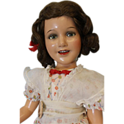 "SOLD 24"" Ideal 1938 Completely original Deanna Durbin Doll wig,clothes,pin,shoes,sox!"