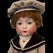 "SALE 24"" Antique Bruno Schmidt 2097 - 6 German Bisque Character Doll Cute Boy Baby"
