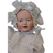 "SALE Antique c.1915 12"" German Bisque Character Baby 525 by Kley and Hahn"