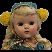 SALE 8 Inch Vintage Ginny Walker #6047-1956 Roller Skater Doll For Fun Time Series, Brown Eyes