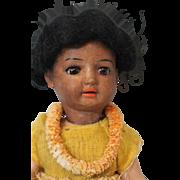 "SALE 8"" Schoenau & Hoffmeister PB in star ""HANNA"" German Bisque Hawaiian doll O"