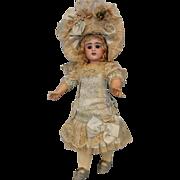 """SALE 19"""" E.D. French Bebe Doll Etienne Denamur Antique Bisque Mohair wig 1895"""