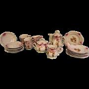 SALE Antique Kewpie Doll Tea Set Rose O'Neill Wilson,Complete Set,Cute action Kewpies