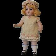 """SALE Antique 7.25"""" Strobel & Wilken All Bisque German Doll Marked 251 circa 1910"""