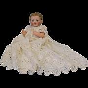 """SALE Antique 12"""" Kestner 211 Character Baby Doll German Bisque 1910 Original Skin Wig"""