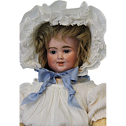 "SALE Antique 17"" 3 Face Bisque Pull String Talking Doll, by Carl Bergner Old Clothes"