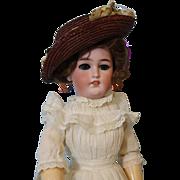 "SALE 16"" Antique Simon & Halbig #1159 lady Doll with Shapely Body molded bosom c.1900"