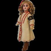 "SALE Antique 14"" DEP Jumeau Walking Doll French Bisque Original Clothing c.1900"