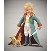 8.5 inch R. John Wright Doll Le Petit Prince and his companion The Fox ...