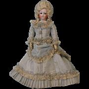 "SALE Antique 12"" c.1875 FG French Fashion Size 0 Bisque Doll Marie Antoinette Wig"