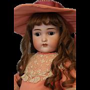 "SALE 23"" Antique German Bisque Adolf Wislizenus AW Doll orig BJ compo body Pretty!"