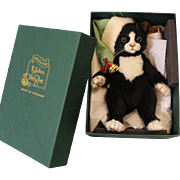 8 inch R. John Wright Jingles Christmas Cat Mint in Box Limited 250 Pieces