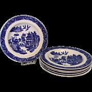 "SALE 6 Antique Royal Worcester ""Blue Willow"" bowls."