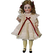 "7"" Antique Marked Heart 513 All Bisque doll by Bruno Schmidt Long YELLOW Socks"
