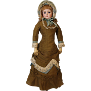 26 inch Beautiful Antique FG French Fashion Doll with Original Dress, Francios Gaultier