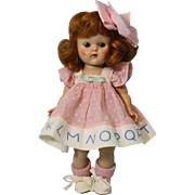 8 inch Red Head Vogue Ginny Painted Lash, Carol, from the Kindergarten Afternoon Series 1953
