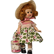 8 inch Vogue Painted Lash Ginny doll Red Head From,  My First Coursage, Series 1954