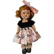 8 inch Vogue Strung Ginny Doll Red Head  Nan  Painted Lash from 1952 Clean and ...