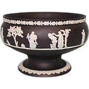 Antique Black Wedgwood Footed Bowl Stamped Made In England HC 8 B 64 Wedgwood