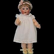 15 inch SFBJ 251 Paris toddler doll with original body antique clothes