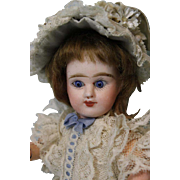 Antique 9 inch ED French Denamur Bisque Doll Size 1 Depose Paris French Jointed body
