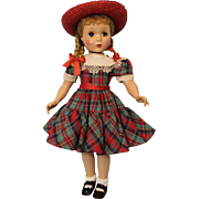 17 inch Polly Pigtails Madame Alexander All orig Maggie face Hard Plastic doll Clean