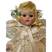 8 inch Painted lash Ginny Doll 64 in My First Corsage sweet pea garlands 1954