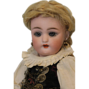 11 inch Antique German Bisque Doll 1079 by Simon Halbig Orig. Ethnic Costume 1900