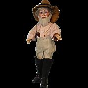 Antique 13 inch German Bisque Farmer by Cuno Otto Dressel ca.1895 Original Clothes !!
